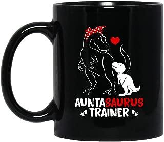 Auntasaurus Trainer Mug Rex Auntie Saurus Coffee Mug Dinosaur Lover Gift