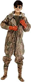 comprar comparacion Xinwcang Profesional Pantalones de Pesca, Impermeables Camuflaje Vadeador Waders Pesca Pescadores PVC Botas Altas