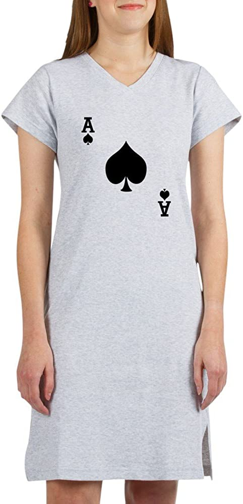 2021 autumn and winter new CafePress Ace of Spades Women's Pink Cheap mail order sales Nightshirt