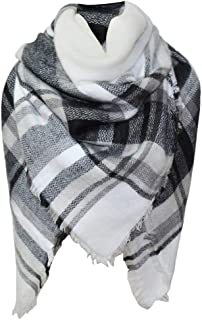 Wiwsi Women's Fashion Shawl Grid Autumn Winter Neck Warmer Elegant Blanket Scarf