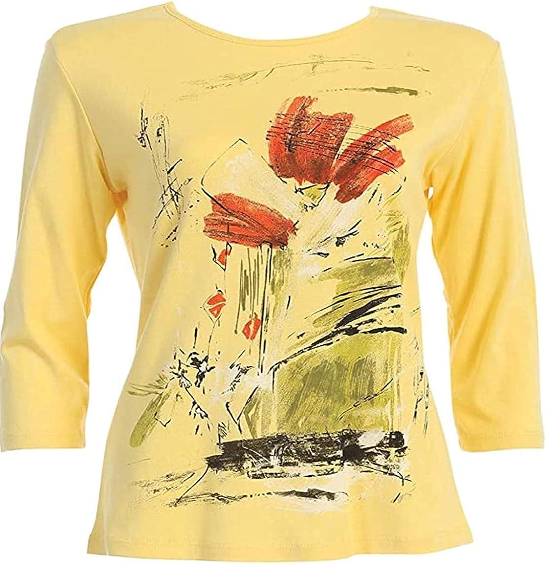 Jess & Jane Women's Celine Cotton Tee Shirt Top