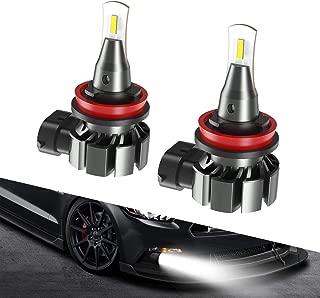 SEALIGHT H8 H11 H16 LED Fog Light Bulb,  5800lumen 6000K Xenon White Super Bright CANBUS LED Lights,  Halogen Fog Light Bulb Replacement for Cars Trucks Vans(pack of 2)