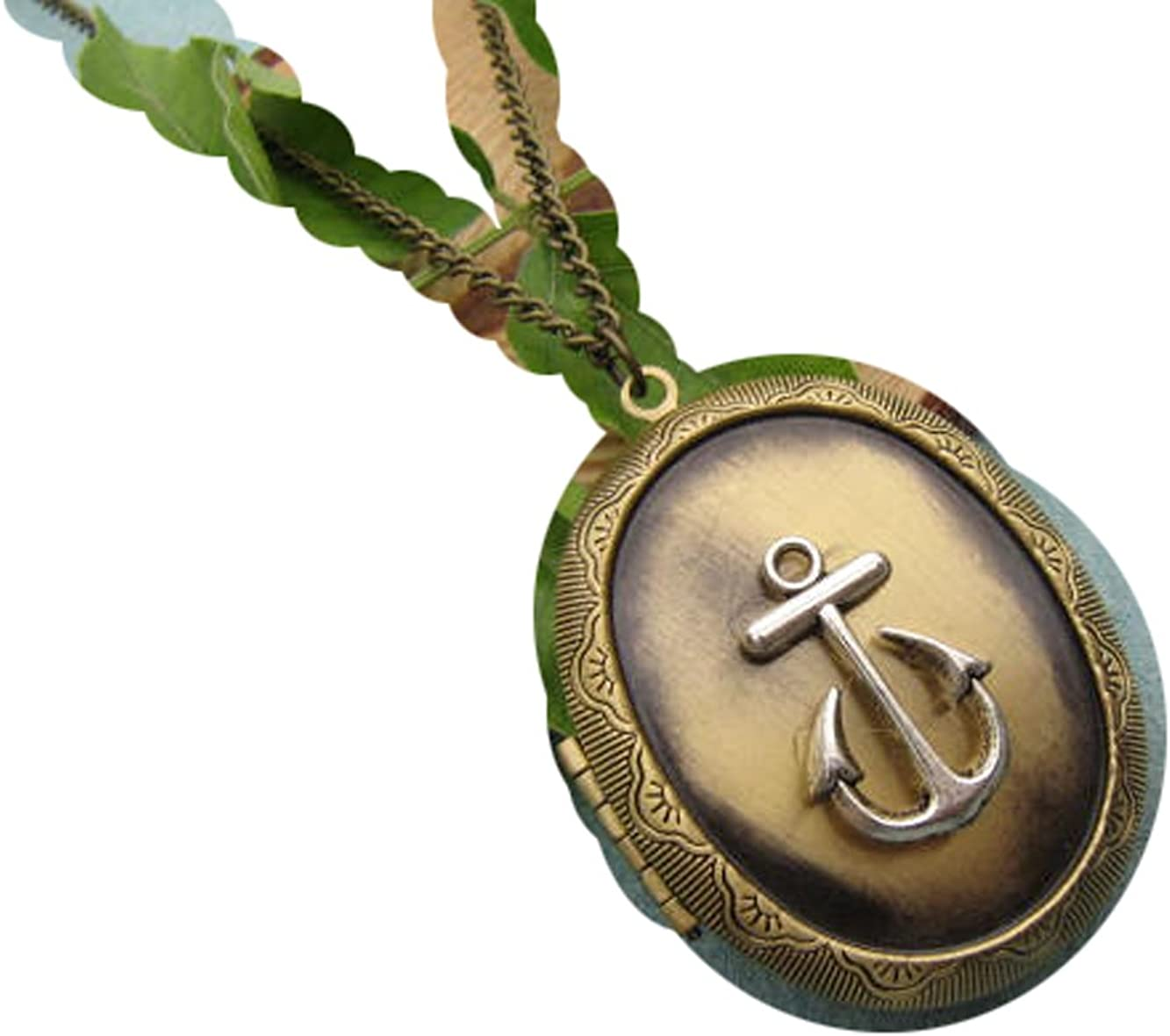 Sail Away,Anchor Locket,Luck,Nautical Necklace,Bronze Locket Necklace, Locket,Anchor,Ocean Locket
