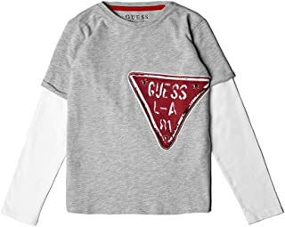 Guess Boys' Long Sleeve Layered Graphic T-Shirt,