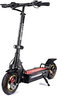 QIEWA Q1Hummer 800Watts 37MPH Electric Scooter with Dual Disk Brakes Max Driving Range Up to 68 Miles,550lbs Max Load Weight