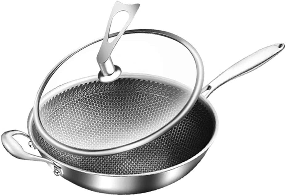 SH-chaoguo Fry Wok Frying Pan Stainless Uncoated Steel Free Shipping New Non- 304 Ultra-Cheap Deals
