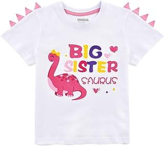 WAWSAM Camiseta de Hermana Mayor - Dinosaurio Trajes de Hermanos para Niñito Niña
