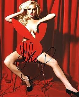 Lindsay Lohan Nude Heels Autographed Signed 8x10 Photo Certified Authentic COA