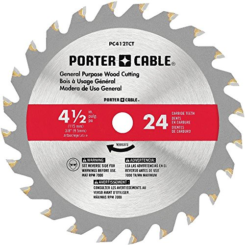 PORTER-CABLE 4-1/2-Inch Circular Saw Blade, 24-Tooth (PC412TCT)