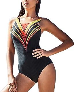 水着 女性用ワンピース三角水着 ビーチ水着 ホルター 小柄ギャザー スポーツ水着 ギフト 服 (Color : Black, Size : XXL)