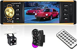 Car Audio Systems Single Din Radios Multimedia Car Stereo Bluetooth Audio FM Radio Receiver with MP3 USB Aux-in Input Wire... photo