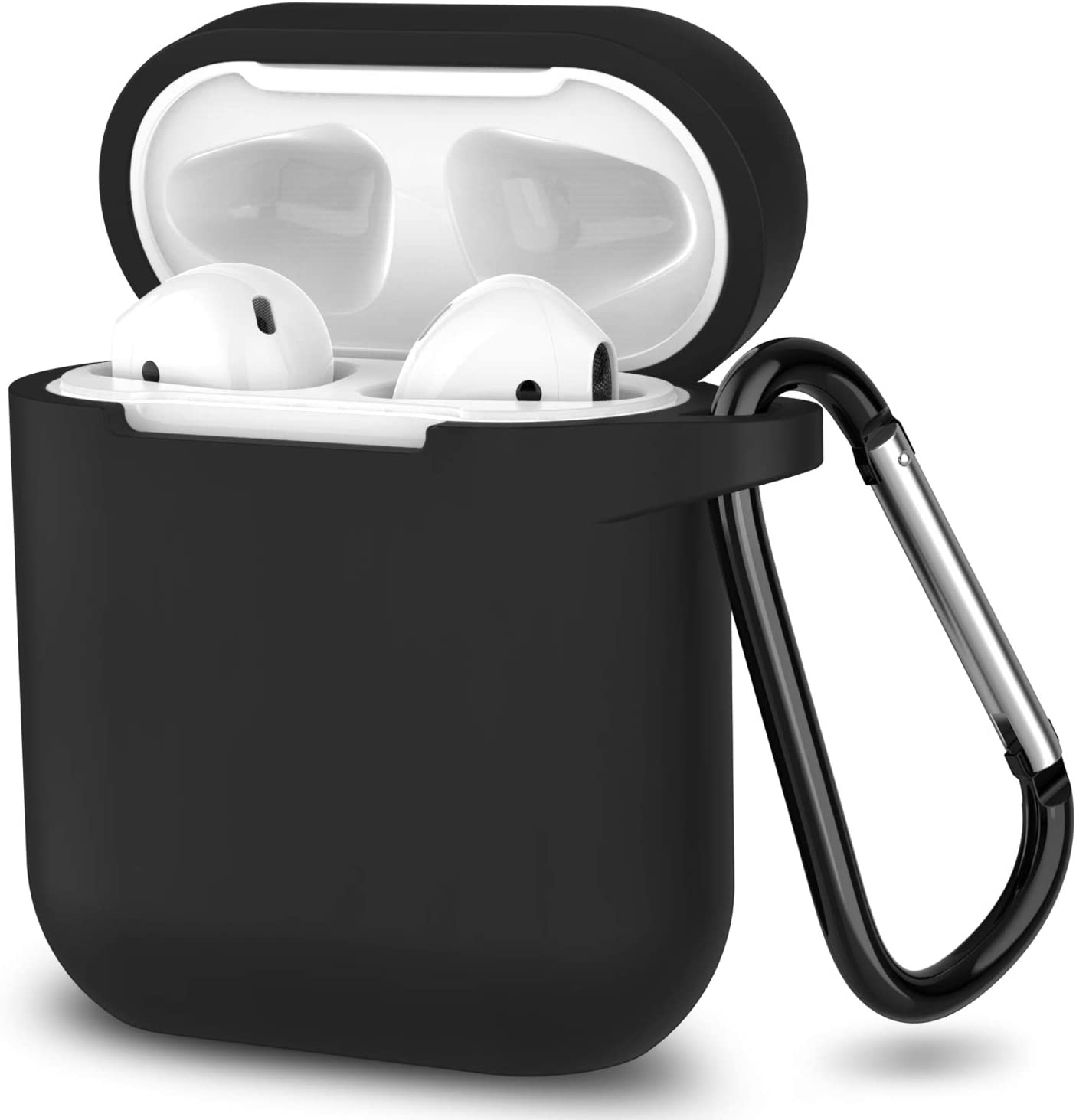 Missouri Tigers Silicone Case Cover for Apple AirPod Battery Case Black