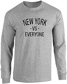New York vs Everyone Sports Fan Full Long Sleeve Tee T-Shirt