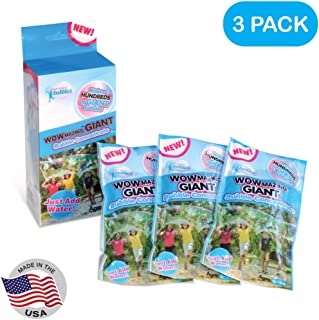 WOWMAZING Giant Bubble Concentrate Solution - Making Big Bubbles (3 Pouches of Bubble Refill) – Just Add Water – Made in USA