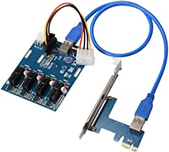 PCI-E 1 to 4 PCI Express 1x Slots Multiplier Card, Ethereum Mining Bitcoin Litecoin Miner Rig Cable GPU Riser Adapter, A ADWITS Brand