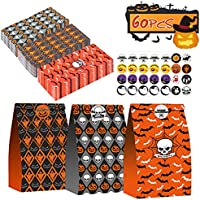 60-Pieces PartyBloom Halloween Treat Bags with 60 Stickers