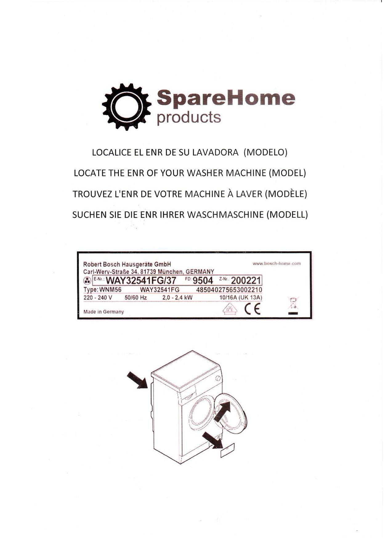 SpareHome Goma escotilla para lavadoras Samsung y Daewoo ...