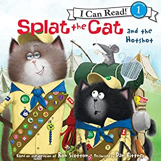 Splat the Cat and the Hotshot audiobook cover art