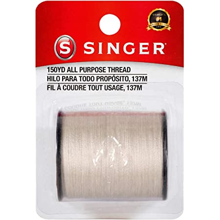 SINGER 60256 All Purpose Polyester Thread, 150 yards, Natural