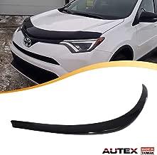 AUTEX Hood Shields Bug Deflector Compatible with Toyota Rav4 2013 2014 2015 2016 2017 2018 Hood Protector Deflector