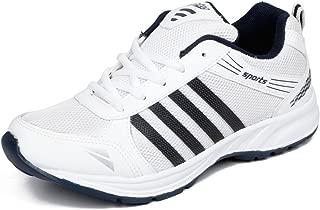 Asian shoes Wonder 13 White Navy Blue Men's Sports Shoes