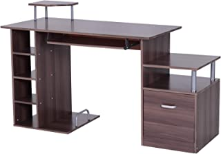 HOMCOM 2454140031 mesa pc ordenador 152x60x80cm de madera e1 mdf escritorio oficina