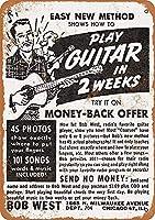 2週間でギターを弾く 金属板ブリキ看板警告サイン注意サイン表示パネル情報サイン金属安全サイン