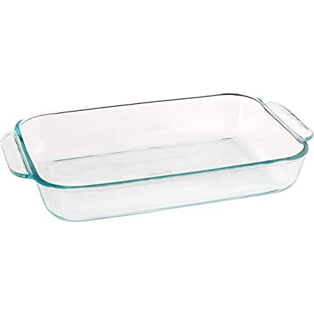 Pyrex, Clear Basics 2 Quart Glass Oblong Baking Dish, 11.1 in. x 7.1 in. x 1.7
