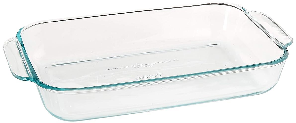 Pyrex SYNCHKG055786 Basics 2 Quart Glass Oblong Baking Dish, Clear 11.1 in. x 7.1 in. x 1.7