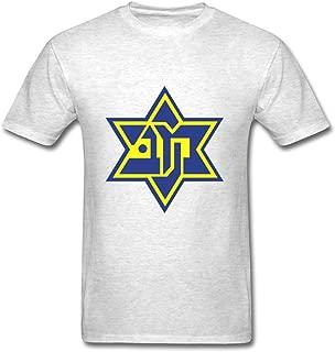 MelinHog Customized Gray T-shirt - Maccabi Tel Aviv Designed,men