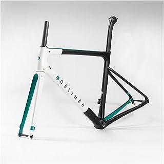 PPLAS Cadre de vélo en carbone blanc 2020 pour vélo de route (couleur : 1, taille : frein à disque)