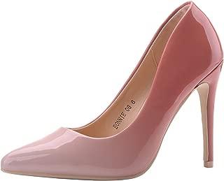BONNIE08 Women Patent Contrast Color Pointed Toe Pumps Stilettos Heel Dress Shoes