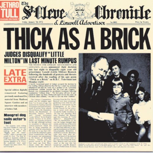 Thick As a Brick [Vinyl LP]