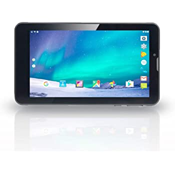 """Excelvan M07K6 7.0"""" Android 6.0 MTK8321 Quad Core 1024*600 1G+8G 3G Dual SIM Card WIFI BT Tablet PC (ブラック)"""