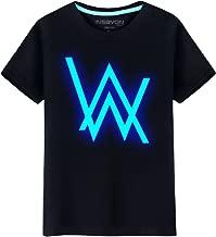 XCOSER Faded Cosplay Alan Walker Short-Sleeve Shirt Dj Costume
