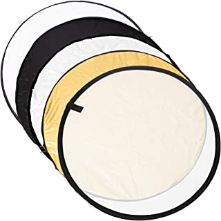 TARION 撮影用 丸レフ板 折りたたみ可能 5色対応 金、銀、白、黒、半透明 直径80cm TARION製拭き布付