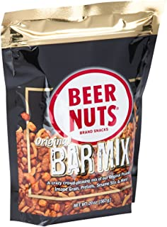 BEER NUTS Original Bar Mix - 20 oz Resealable Stand Up Sweet and Salty Kosher Nut Snack Mix Bag