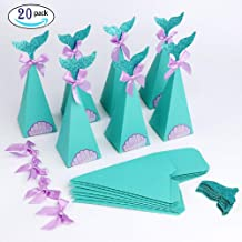 YCRX 20Pcs Mermaid Party Box Sets, Kids Favorite Candy Box, Baby Shower Decorations, Birthday Party Gift Box for Goodies Supplies
