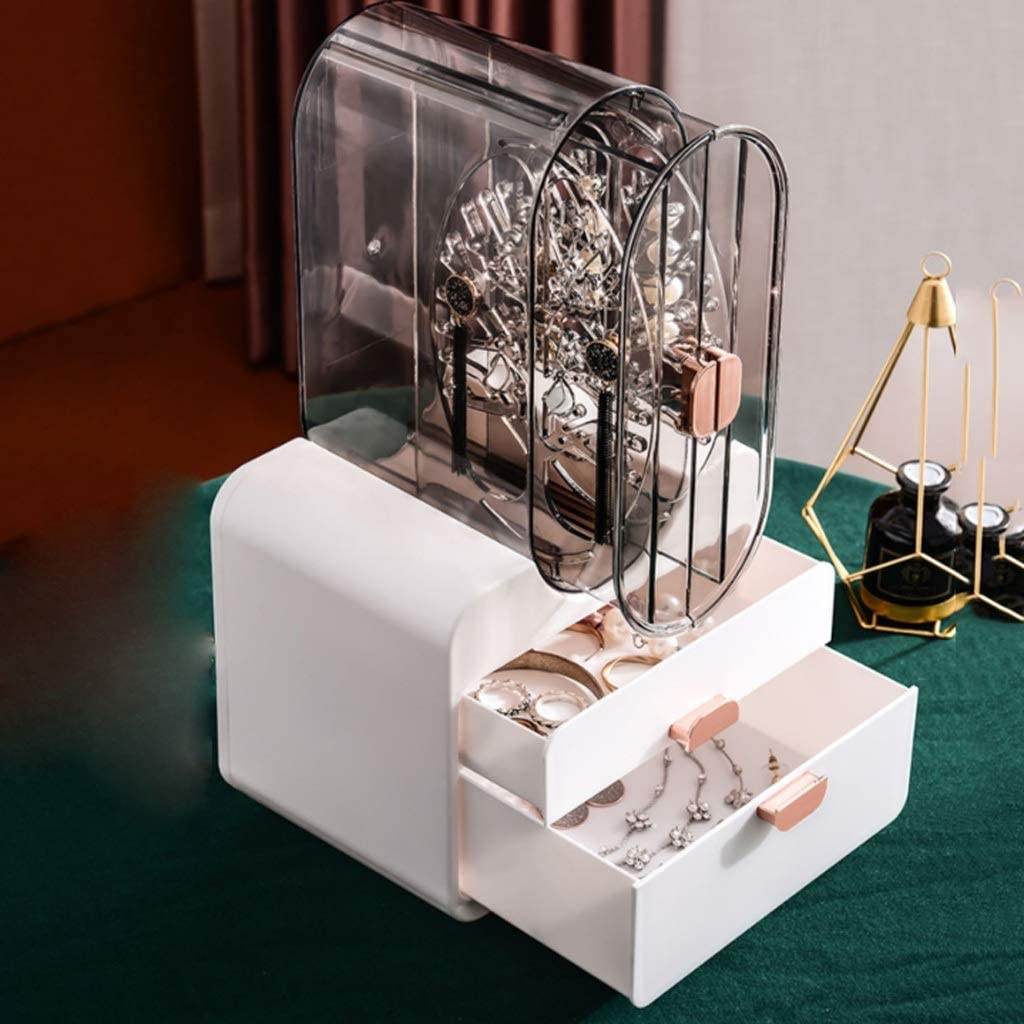 UXZDX CUJUX Jewelry Storage Box Earring Nippon regular agency Large-Capacity El Paso Mall Household