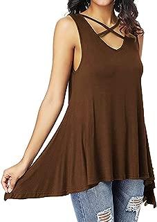 DongDong ♥Women Front Cross Vest, Summer Sleeveless Irregular Tank T-Shirt Blouse Tops Criss Cross Tank Top