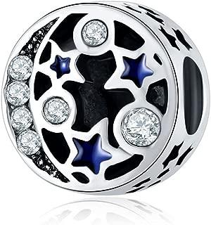 WAYA Perles Tr/èfle Blanc /Émail Transparent Synth/étique Cristal Argent Charmes Pour Pendentif Collier Bracelets Bracelet