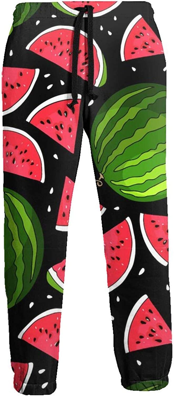 Mens Elastic Waist Sweatpants Watermelon Red Joggers Sweatpants for Gym Training Sport Pants