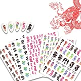 BYBYCD Dragon Nail Stickers Decals 10 Sheets 5 Styles 3D Nail Art Decoration Self Adhesive Acrylic Nails Decor