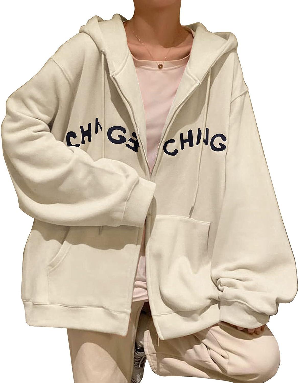 Women Hoodie Sweatshirts Y2k Aesthetic Zip Sl 90s Kansas City Mall Up Jacket Long Import