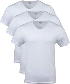 Gildan Men's Modal V-Neck T-Shirts, 3 Pack