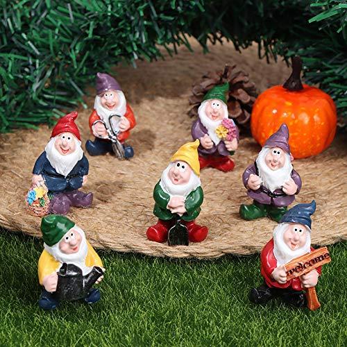 SHUHUI Micro Landscape Gnome Garden Ornament, 7 Dwarfs Micro Fairy Tale Garden Ornaments,Characters Bonsai Dwarf Garden Ornaments