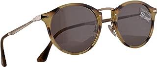 Persol 3166-S Calligrapher Edition Sunglasses Striped Brown w/Grey Lens 49mm 1085R5 PO 3166S PO3166S PO3166-S