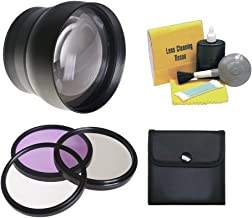 Canon VIXIA HF G30 HD 2.2X High Definition Super Telephoto Lens + 58mm 3 Piece Filter Kit + Nwv Direct 5 Piece Cleaning Kit