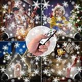 LED Projektionslampe, Schneeflocken Schneefall Effektlicht mit Fernbedienung Timer, Weihnachtsbeleuchtung Außen Innen, Projektor Lampe Weihnachten IP65 Wasserdicht Weihnachtsdeko für Garten - 2