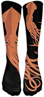 DaSOC Cuttlefish Squid Unisex Novelty Premium Calf High Athletic Socks Fashional Tube Stockings Size 6-10